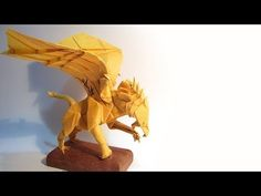 Origami Gryphon tutorial 摺紙獅鷲教學 [32x32 Box-pleating] ( Kade Chan ) - One day when i am really bored and sleepy XD