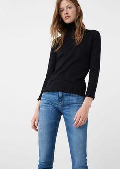 Ribbed cotton-blend sweater | MANGO