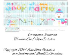 Christmas Snowman Facebook Timeline  Banner & by LuziEllisGraphics Printed Ribbon, Facebook Timeline, Fb Covers, Collage Sheet, Christmas Snowman, Circles, Banners, Avatar, Custom Design