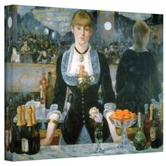 ArtWall Edouard Manet 'A Bar at The Folies-Bergere' 36x48 Gallery Wrapped