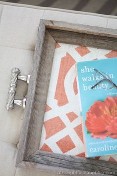 How to Create A Chic Tray {Rustic + Glam} - here I go with that pink and blue palette again.  So....rustic glam pink and turquoise...yep - I love it!