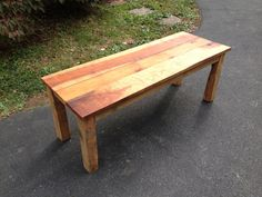 """Reclaimed maple and pine wood coffee table (48"""" length) on Etsy, $265.00"""