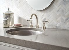 update your bathroom by installing this delta kinley widespread handle faucet in spotshield brushed nickel