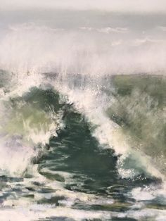 I was going through some old photos and found an amazing image of Hurricane Earl from 2010, LBI.  I am always fascinated with the ocean during these natural occurrences; the sheer power and force of the water.  This is a detail from my most recent pastel painting.  www.danniellemick.com  www.lakesideartstudio.com