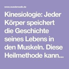 Kinesiologie: Selbstheilung durch Berühren Kinesiology: Every body stores the history of its life in the muscles. This healing method can restore body, mind and soul Health And Wellness, Health Tips, Health Care, Health Fitness, Health Cleanse, Yoga For Flexibility, Wonder Woman, Self Healing, Health Promotion