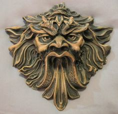 *★*AWESOME*★* GREEN MAN WALL SCULPTURE