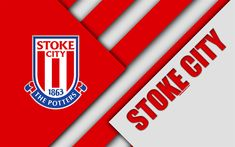 Download wallpapers Stoke City FC, logo, 4k, material design, white red abstraction, football, Stoke-on-Tren, England, United Kingdom, Premier League, English football club