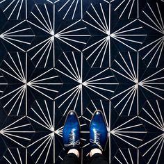 Sebastian Erras Captures the Beauty of Parisian Floors 8 - MaterialDistrict Floor Design, Tile Design, Tile Patterns, Textures Patterns, Blue Cafe, Flower Pattern Design, Best Flooring, Parisian, Tile Floor