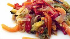 Varomeando: Verduras crujientes salteadas