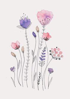 Watercolor Brush Pen, Watercolor Drawing, Watercolor And Ink, Watercolor Flowers, Brush Pen Art, Watercolor Art Paintings, Abstract Watercolor, Watercolours, Watercolor Paintings For Beginners