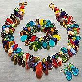 Czech Glass Teardrop Jewelry