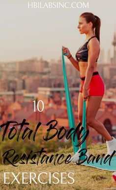 total body resistance band exercises will give you the toned body youve always wanted and challenge you to engage your entire body. Best Resistance Bands, Resistance Band Exercises, Body Exercises, Stretch Band Exercises, Exercise Bands, Resistance Workout, Fitness Home, Health And Fitness Tips, Health Tips