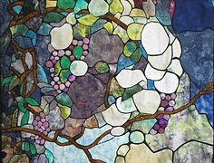 Stained Glass Wisteria Quilt by my mother, Eva Sandrof