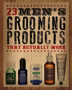 23 Men's Grooming Products That Actually Work. Gift ideas for men!
