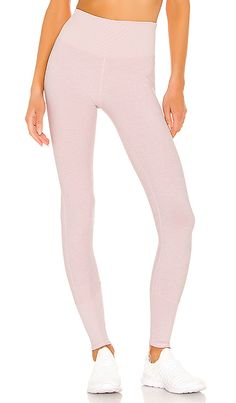 Shop for alo High Waist Lounge Legging in Soft Pink Heather at REVOLVE. Bridge Pose, Yoga Fashion, Revolve Clothing, Luxury Shoes, Yoga Inspiration, Casual Chic, Street Style, High Waist, Lounge