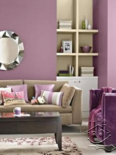 Subtle purple living room Home Pinterest Living rooms