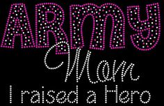 MILITARY Navy Mom I raised a Hero rhinestone iron by IHopeUSparkle