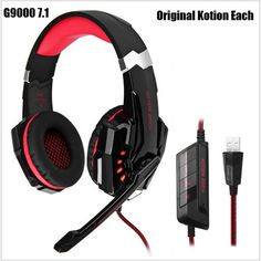 29.58$  Buy here - http://di51h.justgood.pw/ali/go.php?t=32674411911 - Gamer Headphones Kotion Each G9000 7.1 Headset Gamer Casque Audio Dre Dre Headphones Gaming Headband Gamer Headset Microphone