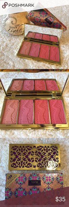 NWT! TARTE BLUSH BLISS BLUSH PALETTE BRAND NEW! AUTHENTIC TARTE BLUSH BLISS BLUSH PALETTE HIGH PERFORMANCE NATURALS-Never used or swatched...,, tarte Makeup Blush