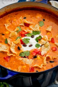 This is nacho average soup.  Get the recipe fromDelish.
