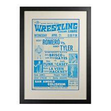 Framed Lucha Libre Wrestling Poster Romero v Tyler c1960   Restored Antique Lighting, Salvage, Antiques & Vintage Finds
