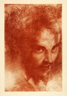 """""""Portrait Head of Man"""" by Antonio Allegri Correggio"""