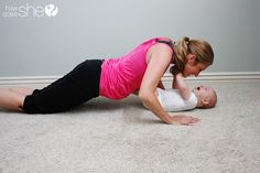 Workout With Your Baby! Look at those cute smiles...how fun!