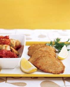 Pork Cutlets Parmesan: we trimmed fat and calories from a classic recipe, but kept all the good taste.