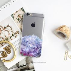 iPhone 7 Hydrangea Clear Rubber Case iPhone 7 Plus by HelloNutcase