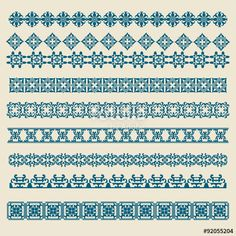 Vector: Vintage Ornament Border Vector Set https://ru.fotolia.com/p/201081749, http://ru.depositphotos.com/portfolio-1265408, https://creativemarket.com/kio