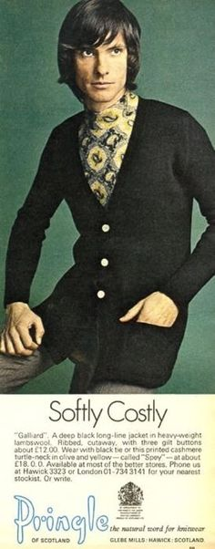 1960s men's leisurewear advertisement.