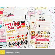 Repost from @marinette_scrap using @RepostRegramApp - @mymindseyeinc  designer brads and rub-ons included in our @hipkitclub January main kit  #mymindseye #hipkitclub #hipkits #january2016 #papercrafting #marinettelesne
