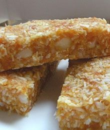 Coconut Almond Apricot Bars