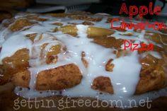 Apple Cinnamon Pizza ::