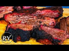 Brisket Smoked On The Weber Kettle - YouTube