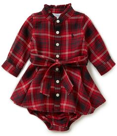 Ralph Lauren Childrenswear Baby Girls 3-24 Months Plaid Flannel Shirtdress