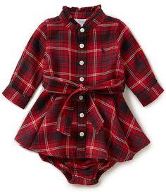 Ralph Lauren Childrenswear Baby Girls 3-24 Months Plaid Flannel Shirtdress