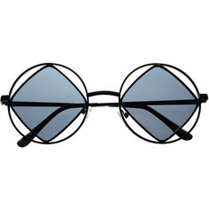 Hippie Retro Vintage Fashion Square Metal Round Sunglasses R90 (38 BRL) ❤ liked on Polyvore featuring accessories, eyewear, sunglasses, glasses, round sunglasses, square sunglasses, circle lens sunglasses, vintage sunglasses and round frame sunglasses