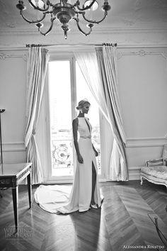 alessandra rinaudo 2017 bridal sleeveless boat neckline keyhole bodice clean simple elegant sheath wedding dress middle slit skirt low v back chapel train (26) mv