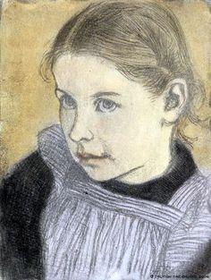 Portrait Of A Little Girl - Eero Jarnefelt