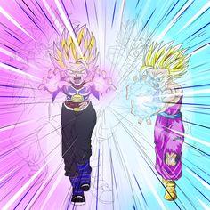 DBZ Commission -Gohan vs Evil Gohan by ghenny on DeviantArt Dragon Ball Z, Dragon Ball Image, Gorillaz, Martial Arts Anime, Dbz Characters, Dark Fantasy Art, Animation Film, Anime Style, Cute Art
