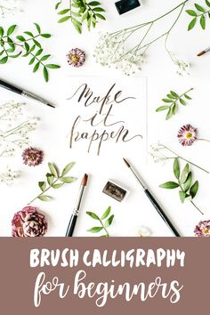 Yes! I've always wanted to know how to do that gorgeous hand lettering I see in other people's bullet journals! These brush calligraphy for beginners tips are just what I need to make that happen!