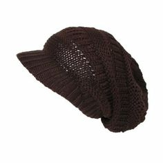 CTM Womens Slouchy Beanie Beret in Chunky Knit