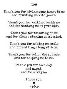 I have so many things to thank you for other than just what's listed here....you are the best thing that has ever and will ever happen to me