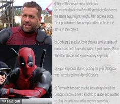 He's born to be Deadpool! (But Deadpool's actually a blond...)
