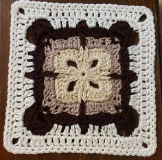 "Ravelry: Garden Gate 6"" Granny Square by Shelley Husband"