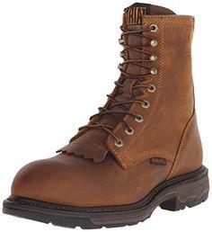 "Ariat Men's Workhog 8"" Composite Toe Work Boot, Aged Bark, 11 D US"