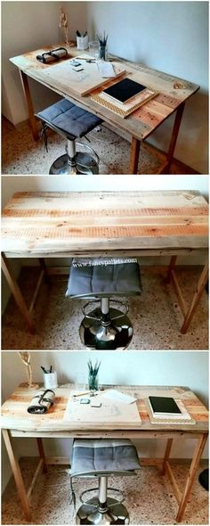 Well for us the recycling thoughts of the wooden pallet creations are limitless! Hence this would really make your idea impede: DIY Pallet Craft Ideas : diy Wooden Pallet Coffee Table, Pallet Side Table, Pallet Chair, Wooden Pallet Furniture, Wooden Pallets, Pallet Wood, Pallet Ideas, Furniture Projects, Wood Projects
