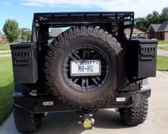 97-06 TJ and 04-06 Jeep Wrangler LJ Models Hooke Road Textured Black Heavy Duty Tire Carrier Mount Tailgate Bracket for 87-95 YJ