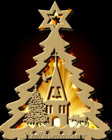 Scroll Saw Patterns :: Lighted projects :: Trees -